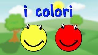 I colori in italiano per bambini   Impara l'italiano   Aprenda italiano