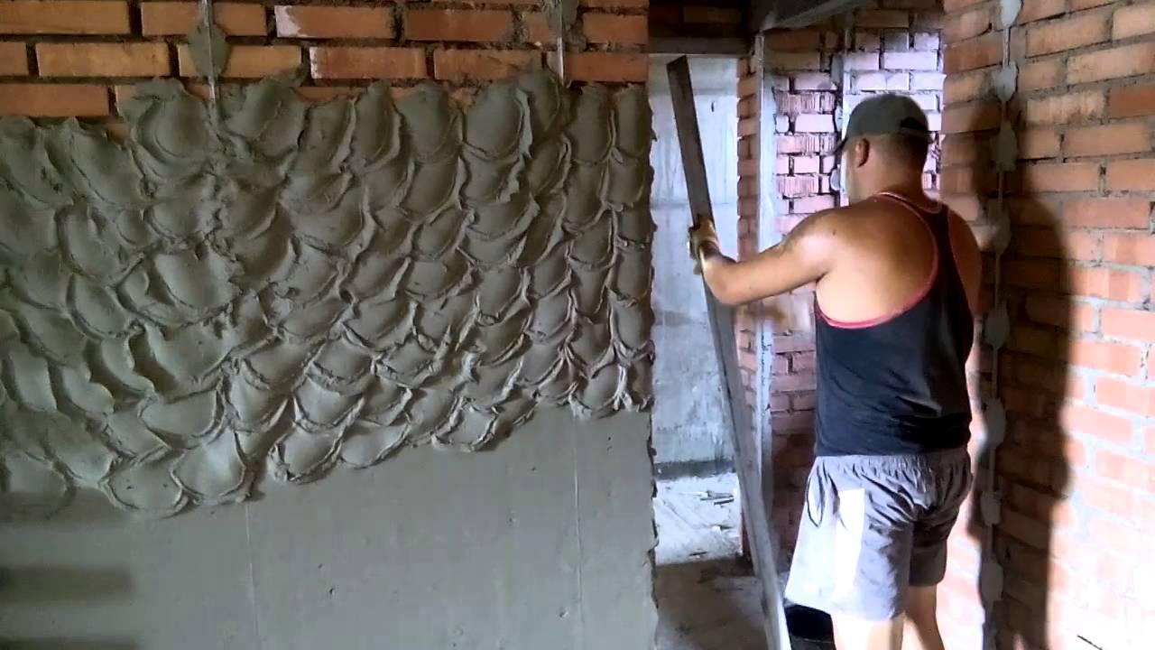Как правильно штукатурить стену цементным раствором блоки бетона