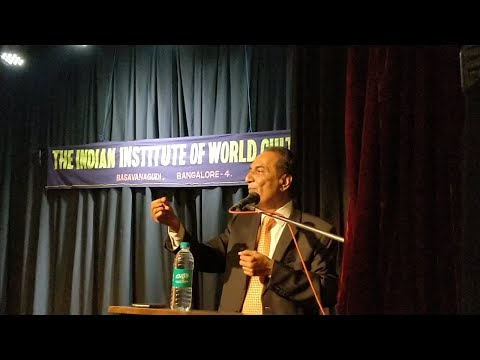 Sri Parthasarathi N speaking on India's Foreign Policy : Past, present and the challenges ahead
