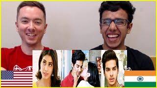 Dhadak Trailer REACTION   American & Indian Exchange Culture