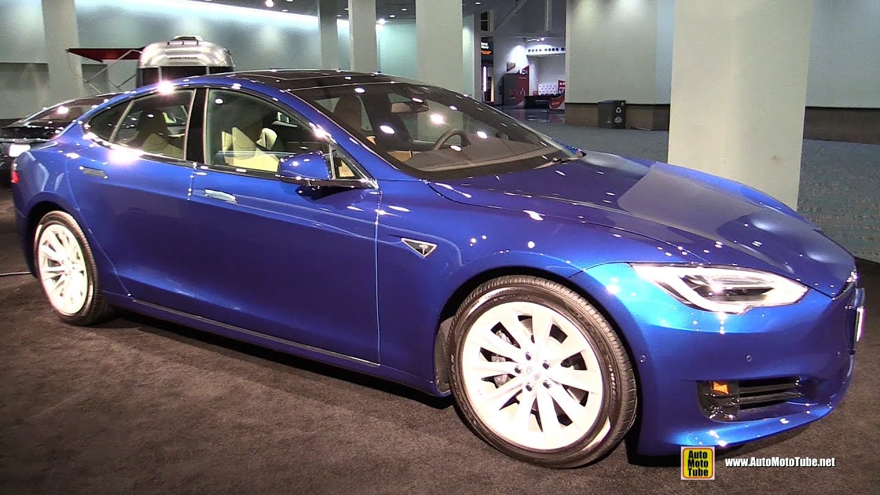 2017 tesla model s 75d walkaround 2016 la auto show youtube. Black Bedroom Furniture Sets. Home Design Ideas
