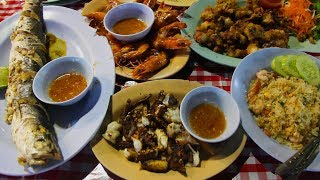 Thai Street Food: A Seafood Feast at a Night Market in Thailand
