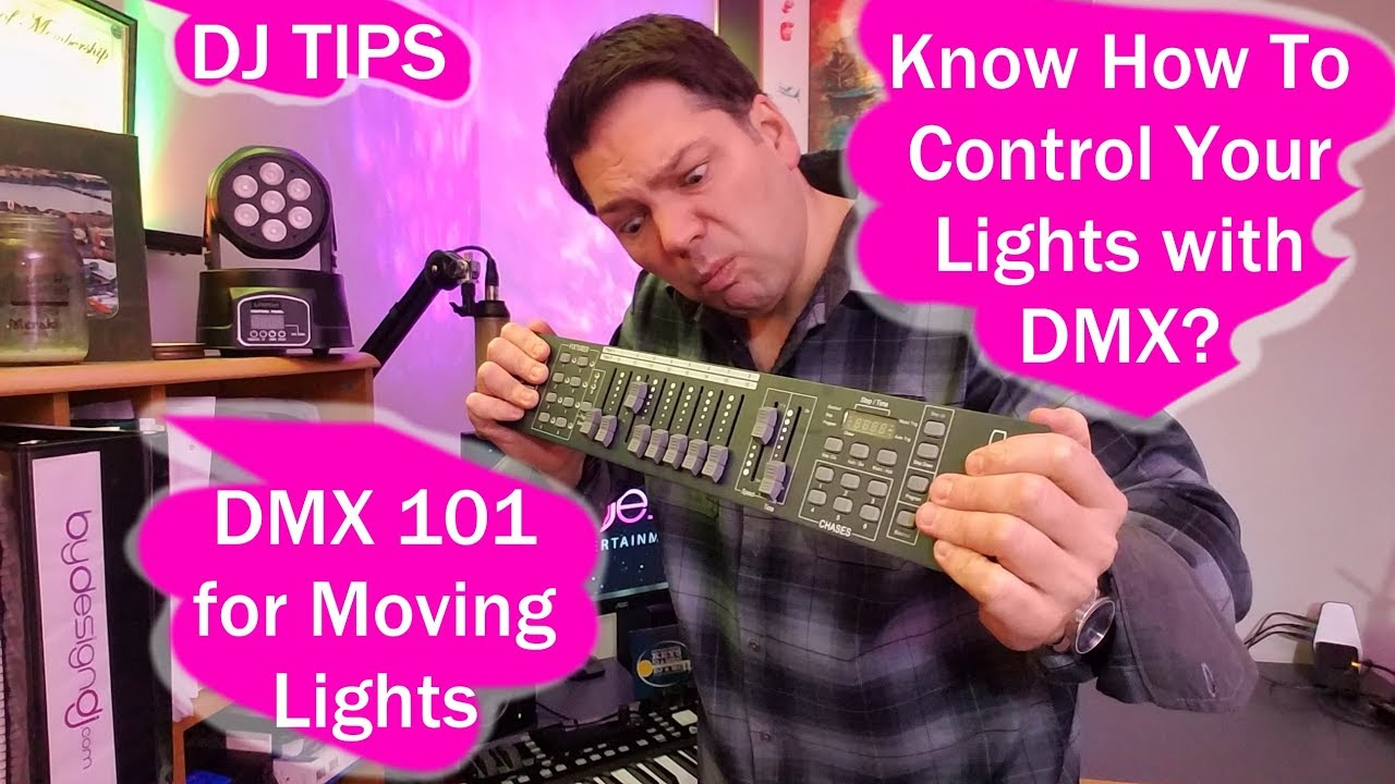 DMX for beginners, easy control for DJ lights