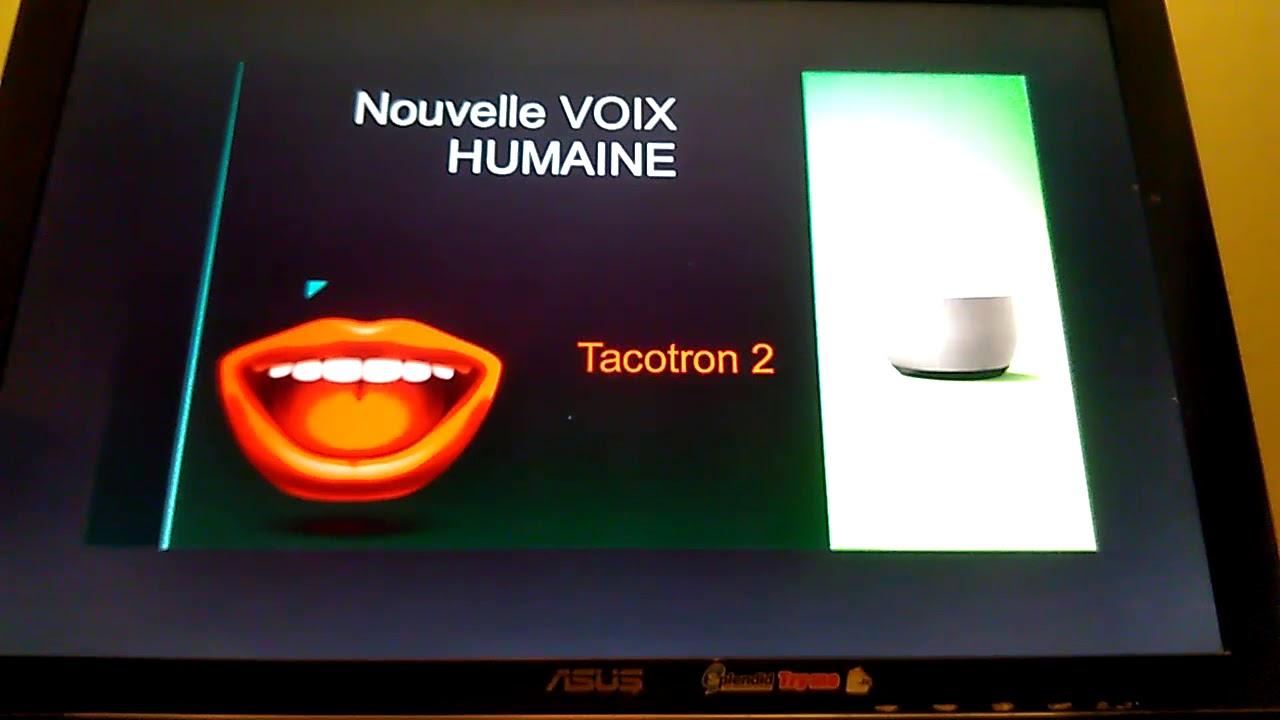 TACOTRON 2, la nouvelle VOIX RÉALISTE de GOOGLE HOME - YouTube