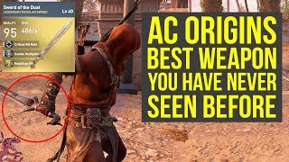 Assassin's Creed Origins Best Sword YOU HAVE NEVER SEEN BEFORE (AC Origins Best Weapons)