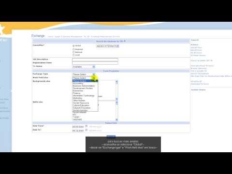 MyAiesec.net - Exchange menu tools - Search TN Database(HD)