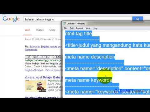 Fungsi Meta Tag HTML