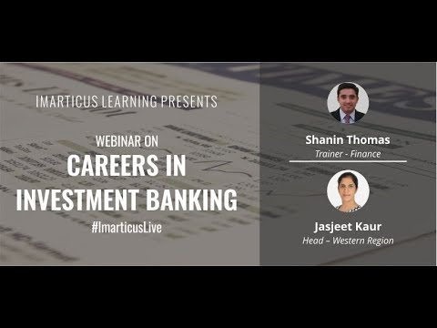 """#ImarticusLive Webinar on """"Careers in Investment Banking"""""""