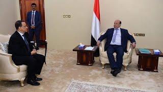 هادي يبحث مع ولد الشيخ فرص السلام في اليمن