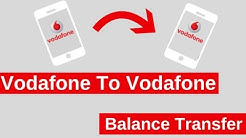 Vodafone To Vodafone Balance Transfer (2 Methods)