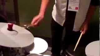 Kraft Music - KAT percussion KT3 drum Kit NAMM. 2014