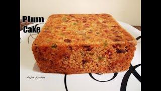 Plum Cake   Fruit Cake   Easy Plum Cake Recipe   Eggless Plum Cake in Cooker  Christmas Special Cake