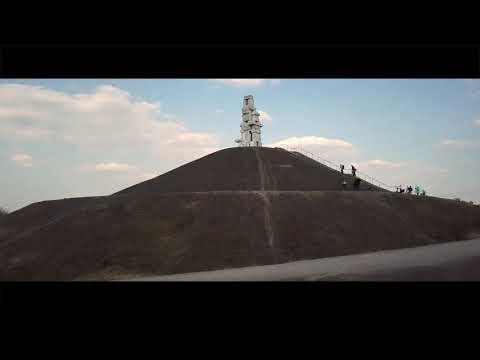 besprühte-himmelstreppe-auf-der-halde-rheinelbe-aus-der-luft.