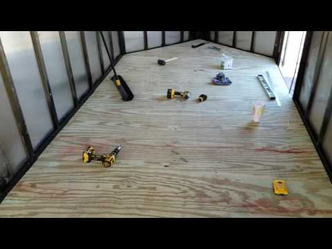Enclosed trailer renovation part 3