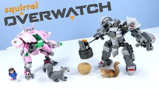LEGO Overwatch D Va & Reinhardt Set Build Review 75973