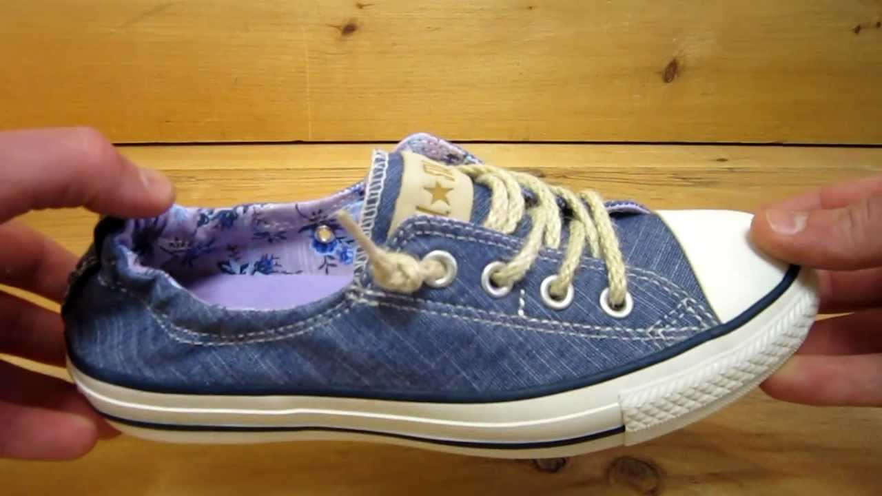 5881e4ed376e Converse All Stars Shoreline Slip Shoes Dark Denim - YouTube