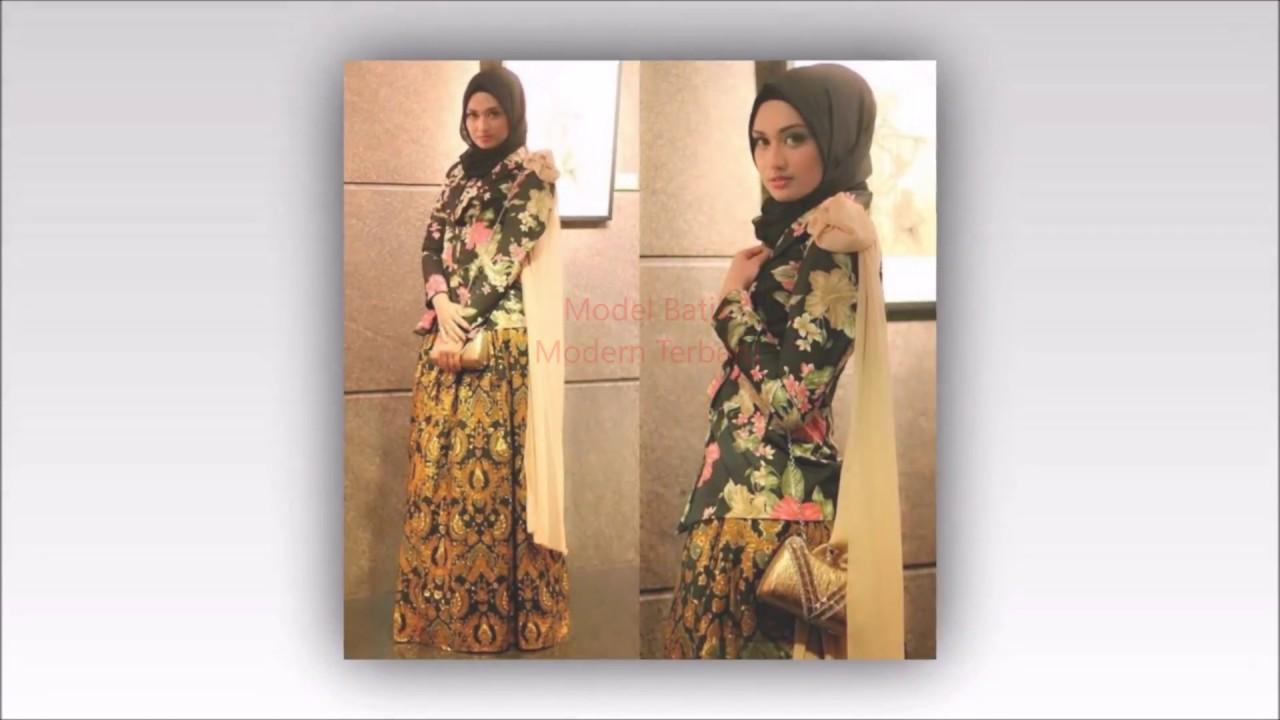 20 Model Baju Batik untuk Wanita Muslim 41d57333a3