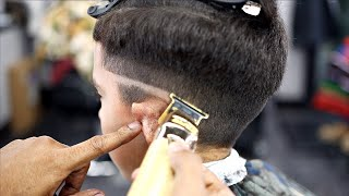 *FULL LENGTH* HAIRCUT TUTORIAL: SṪEP BY STEP MID FADE COMBOVER | HARD PART| BLOWDRY & STYLE