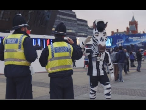 UCL Final | Jay turns Cardiff black and white!