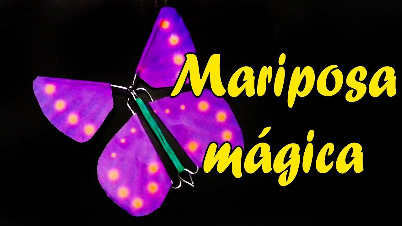Como hacer una mariposa m gica youtube - Como hacer mariposas de papel ...