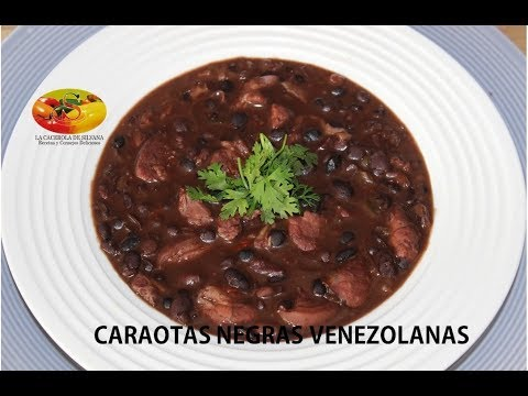 CARAOTAS NEGRAS VENEZOLANAS - FRIJOLES NEGROS
