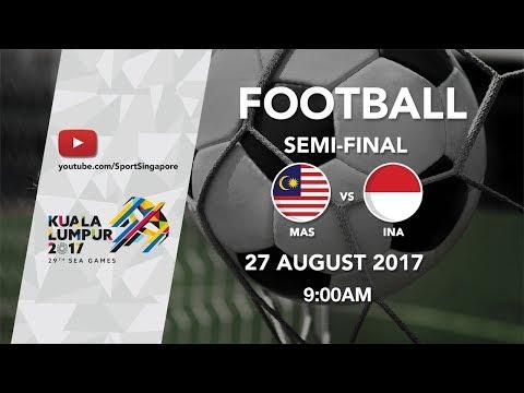 Football ⚽ Men's Semi-Final: Malaysia 🇲🇾 vs 🇮🇩 Indonesia | 29th SEA Games 2017