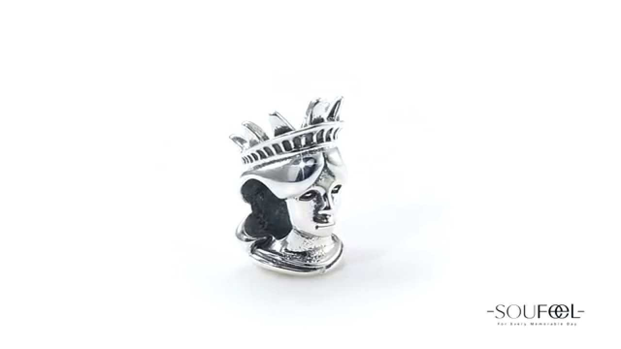 6139c56cb Soufeel Statue Of Liberty Charm 925 Sterling Silver - YouTube