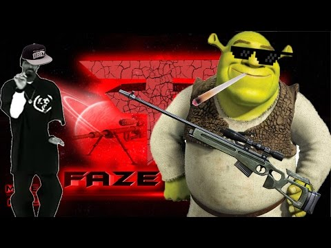 Shrek fights mlg faze clan, quick scopes only.