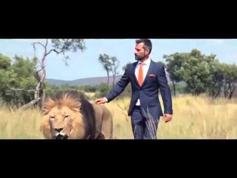 Đá bóng cùng với đàn sư tử giữa Châu Phi