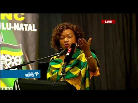 Baleka Mbete addresses the KZN PGC