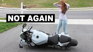 Girlfriend Tries to Pick Up My Motorcycle thumbnail