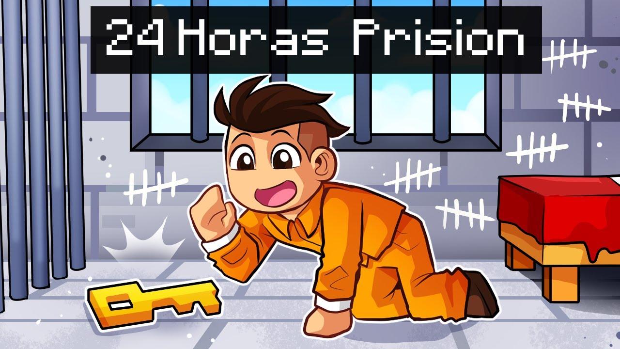 ESCAPAMOS de LA PRISIÓN 24 HORAS en MINECRAFT 😱🚫