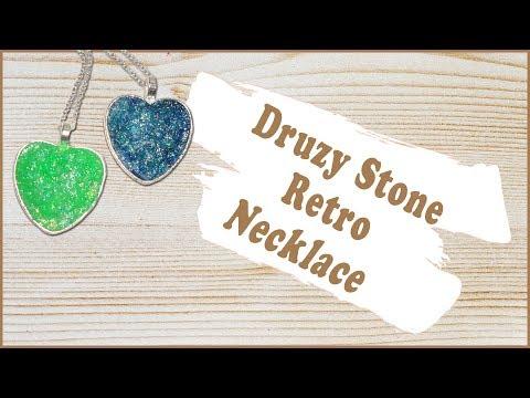 Druzy Stone Retro Necklace Tutorial