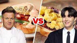 Gordon Ramsay Vs. J-Hope: Who Makes The Best Breakfast Sandwich? • Celebrity Recipe Royale