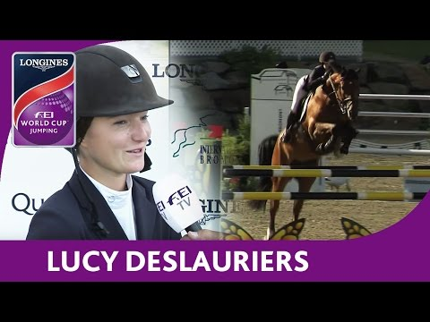 1st: Lucy Deslauriers | Longines FEI World Cup™ Jumping 2016/17 | Bromont (CAN)