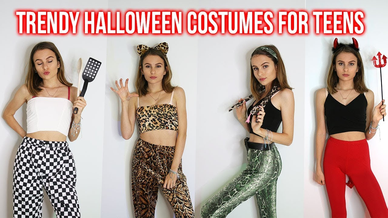 COOL LAST MINUTE HALLOWEEN COSTUMES FOR TEENS! TRENDY EASY u0026 QUICK! Lovevie  sc 1 st  YouTube & COOL LAST MINUTE HALLOWEEN COSTUMES FOR TEENS! TRENDY EASY u0026 QUICK ...