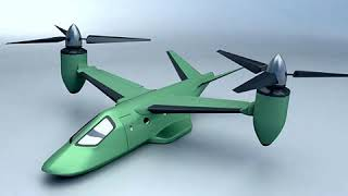 3D Model of Military VTOL rotorcraft vehicle concept Review