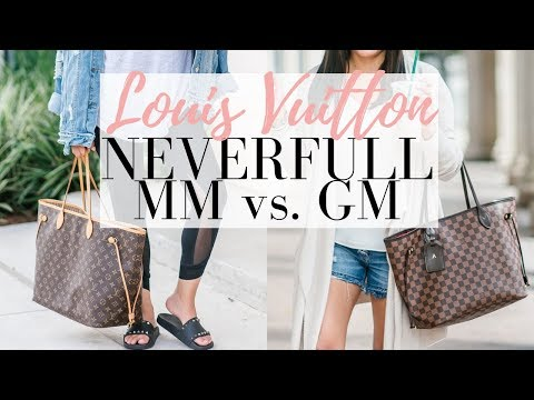 LOUIS VUITTON NEVERFULL MM vs GM - 5 Minute Friday   LuxMommy