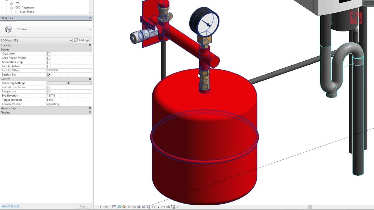 Expansion Vessel Revit family - MEPcontent