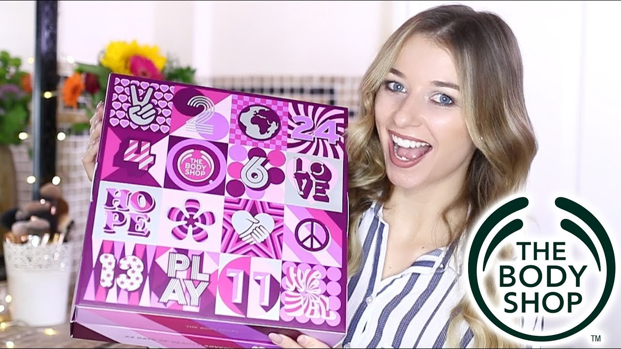 body shop joulukalenteri 2018 THE BODY SHOP ADVENT CALENDAR | Eltoria   YouTube body shop joulukalenteri 2018