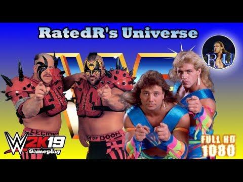 WWE 2K19 Gameplay - Legion of Doom vs. The Rockers - YouTube