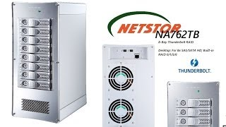 Case Overview - The NetStor 8-Bay Thunderbolt RAID NA762TB box