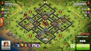 BM075 Balloons and Minions Strategy against champion level opponent - Clash of Clans CoC