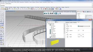 Create and edit Railings with Rhino and VisualARQ