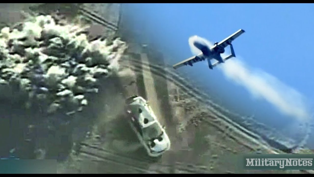A-10 Warthog 30mm cannon vs Taliban getaway vehicle - YouTube