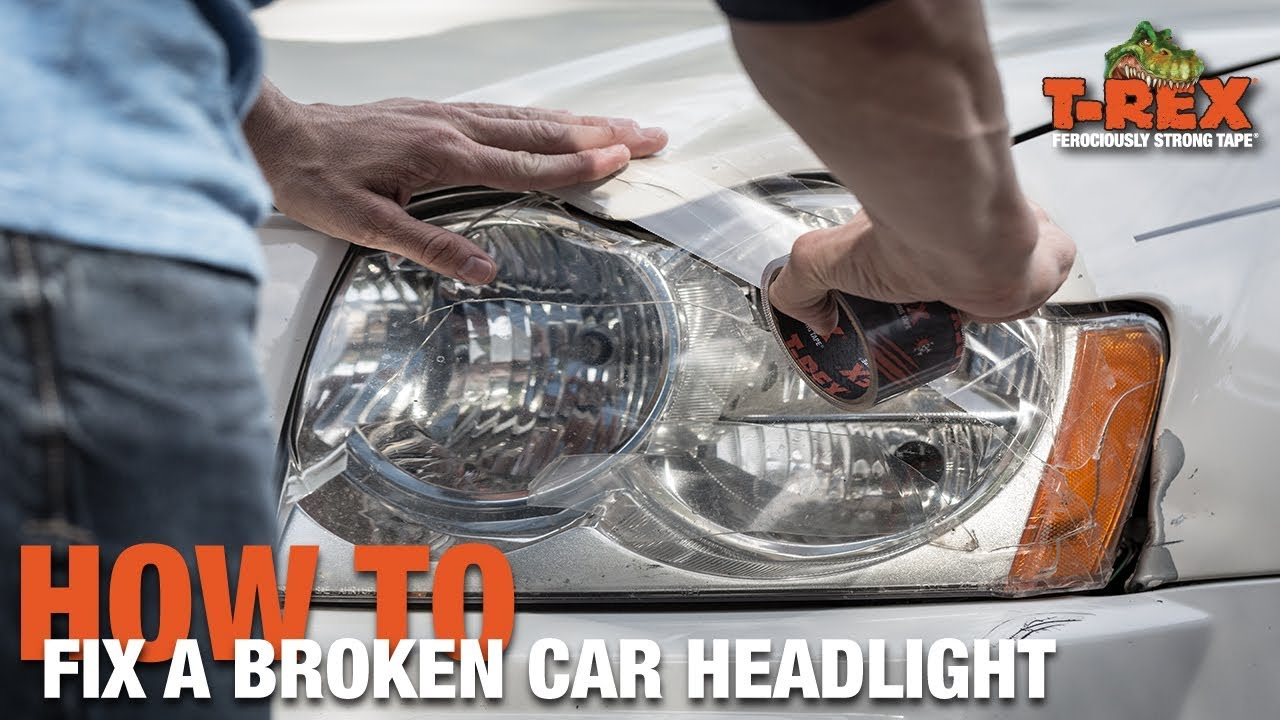 How To Fix A Broken Car Headlight Youtube