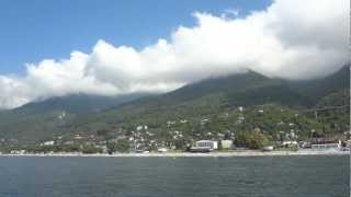 Морская прогулка на теплоходе из г  Гагра Абхазия(, 2012-10-05T19:14:56.000Z)