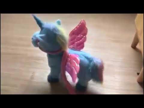 Electric Walking & Singing Unicorn Plush Toys Stuffed Animals For Kids, Toddlers