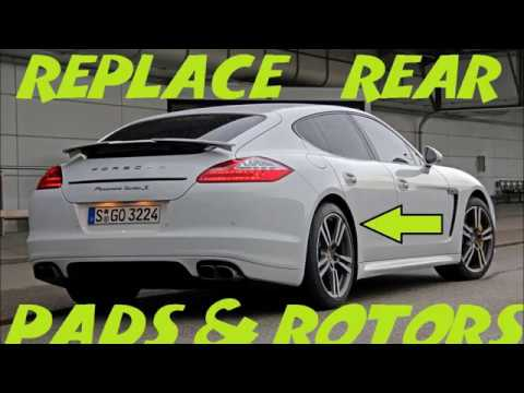 How To Replace Rear Brakes And Rotors Porsche Panamera
