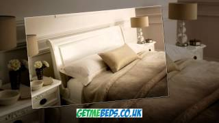 White French Style Bed, La Louvier - Sleigh Bed
